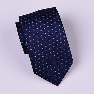 Pink Paisley Navy Blue Floral Tie 8cm Necktie Classic Standard Width Mens Tie