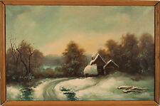 "Nicholas Liamin ""Winter Landscape"" Original Russian Oil Painting"