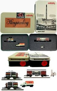 MARKLIN Z SCALE  S358 & S385 - 2 COLLECTOR Freight Cars - C9 in Tin Boxes