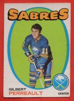 1971-72 O-PEE-CHEE #60 Gilbert Perreault VG-VGEX WRINKLE Buffalo Sabres FREE S/H