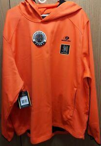 Men's Mossy Oak Blaze Orange, Tech Hoodie w/Face Gaiter, XL (46-48) or 2XL 50-52