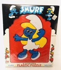 Vintage 13 Piece Smurfette Puzzle Plastic Smurf ILLCO Toy Peyo Cartoon