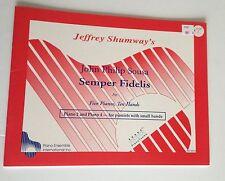 Jeffrey Shunway's John Philip Sousa Semper Fidelis for Five  Pianos, Ten Hands
