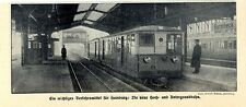 Hamburg- Barmbeck Die neue Hoch- und Untergrundbahn in Hamburg Zug Bahnhof 1912
