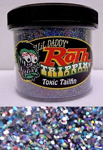 Lil Daddy Roth Metal Flake Toxic Tailfin Prismatic 2oz Jar Hot Rod Custom .015
