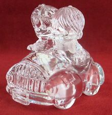 Magic Cristal Bride & Groom in Car Wedding Cake Topper West Germany Figurine