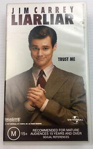 Liar Liar - Jim Carey, Justin Cooper, PAL VHS Video Cassette MA15+