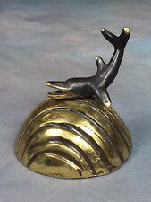 Walter Bosse Dolphin Bell Vintage Mid Century Modern Brass Figurine