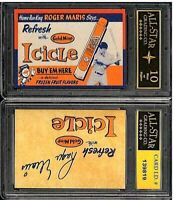 Roger Maris Gold Mine Icicle Advertisement Promo ACEO RP Card Graded ASG 10