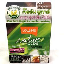 lolane n2 dark brown color shampoo100%natural extract non ammnonia corn sugar