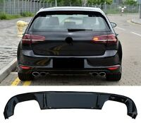 VW Golf 7 VII GTD R-line GTI Look Diffusor Heckschürze Heckansatz Stoßstange