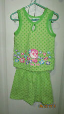 Toddler Girls 3T Baby Looney Tunes Tweety Bird Polka Dot Outfit Tank Top Shorts