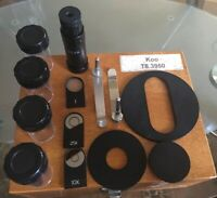 Olympus Tokyo Microscope Objective Lenses (Incomplete) Set With Wood Box Case