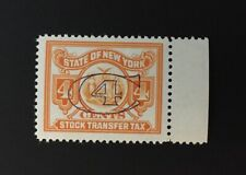 New York State Revenue - 4 cents orange Stock Transfer Tax Stamp #ST160, OG-MNH