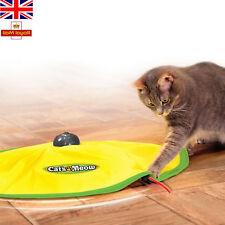 Cat's Meow Motorised Revolving Fun Play Toy Mouse Wand Tail Indoor Pet Exercise