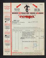 """PARIS (I°) USINES à PAPIERS / CAISSES Cigogne """"CENPA"""" en 1936"""
