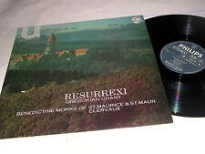 STEREO DUTCH PHILIPS LP Resurrexi Benedictine Monks M/!