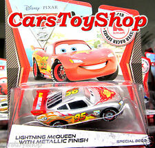 Disney Cars 2 - Lightning Mcqueen Silver Series Diecast Metallic Finish Rare