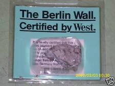 ORIGINAL BERLINER MAUER ZERTIFIKAT BERLIN WALL CERTIFIED DDR BRD GDR FRG DEUTSCH