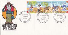 "1980 Australian Folklore """"Waltzing Matilda"""" Fdc - Cloverdale Wa 6105 Pmk"