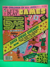 Globe Let's Play Games April 1982 Crossword Word Search, Klondike Gold Rush Game