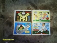 LOT 1970 FLEER 6DIF W/ 2 BABE RUTH 1919 WHITE SOX + 1971 6 DIFF  NRMT OR BETTER