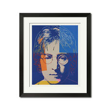 John Lennon x Andy Warhol Pop Art The Beatles Portrait 22x27 Poster Print