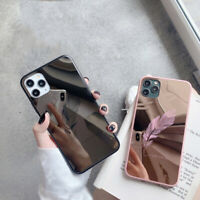 For iPhone 12 11 Pro Max XR X XS 8.7 Mirror Phone Case TPU Hard PC Back Cover