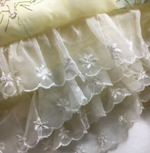 """Vintage Nylon Lace Quilt Baby Blanket 37"""" X 45"""""""