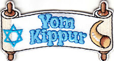 """""""YOM KIPPUR"""" - IRON ON EMBROIDERED PATCH -RELIGIOUS -JEWISH HOLY DAY"""