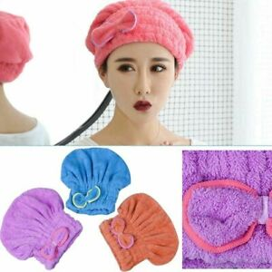 Microfiber Wrapped Towels Shower Cap Bathroom Hats Fast Drying Bath Hair Wrap