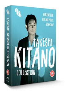 Takeshi Kitano Collection Violent Cop Boiling Point Sonatine Region B Blu-ray