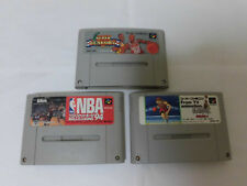 SNES / Super Famicom 3 Games Slam Dunk + NBA 94 + Super Dunk Shot
