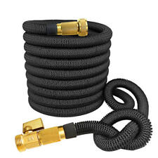 Strongest Expandable Garden Hose with Solid Brass Connector Expand 100FT Black