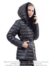 ` Goose Down Jacket Parka w/Mink & Rabbit Fur sz 3XL 16 EU 50 $895 Пуховик Норка