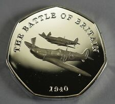 BATTLE OF BRITAIN 1940 Silver Commemorative Coin Albums/50p Collectors, NEW!