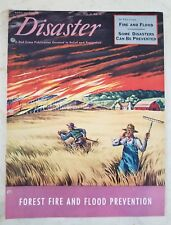 Vintage 1949 RED CROSS DISASTER MAGAZINE (VOL. 3 NO. 3) FOREST FIRE AND FLOODS