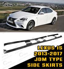 CARKING Fit 14-16 Lexus IS JDM Style Side Skirts EXTENSION SPOILER PRIMED FRP
