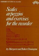 Scales, Arpeggios, and Exercises for the Recorder (Sopranino, Descant,...