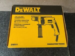 "DEWALT - P/N DW511 - 1/2"" (13 MM) HAMMERDRILL - VSR SINGLE SPEED - CORDED"