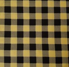 North Woods BTY Cynthie Fisher Quilting Treasures Buffalo Check Golden Tan Black