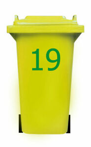 Trash Can Sticker number Tahoma Series, 20cm Dustbin Sticker number label