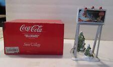 """Dept 56 Snow Village Coca-Cola """"Billboard"""" 5481-0 1994"""