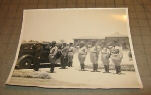 """1930's US ARMY Officer & Enlisted Soldiers Saluting 10"""" x 8"""" B&W Photograph"""
