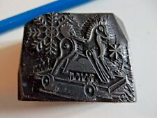 CLASSIC ART DECO solid printers block  ROLLING HORSE EMBOSSED SOLID ! TACTILE