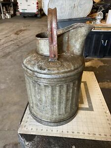 Farmhouse Jug Vase Milk Can Pitcher Galvanized (pp106)
