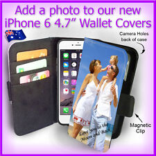 For Apple iPhone 6 4.7inch Personalised PHOTO Wallet Flip case PICTURE cover
