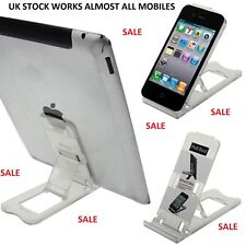 Tablet iPhone Desk Stand Holder Mobile Phone Folding Portable Clear IPAD Samsung