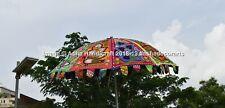 Brand New Indian Peacock Embroidery Patio Umbrella Large Outdoor Garden Umbrella