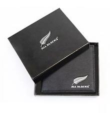 Zealand All Blacks Mens Black PU Leather Wallet